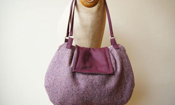 Porto bag – bordeau classic tweed / SOLD