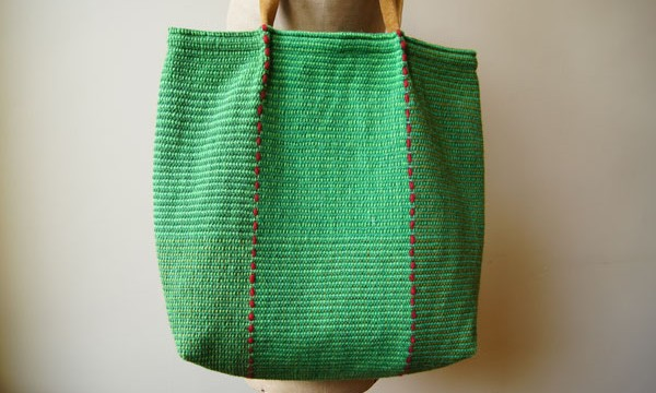 Simple handled – handdied greens / SOLD