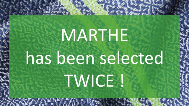 MARTHE has been selected twice!