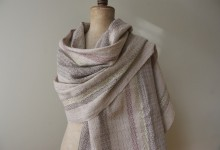 shawl madb.trad - light grey